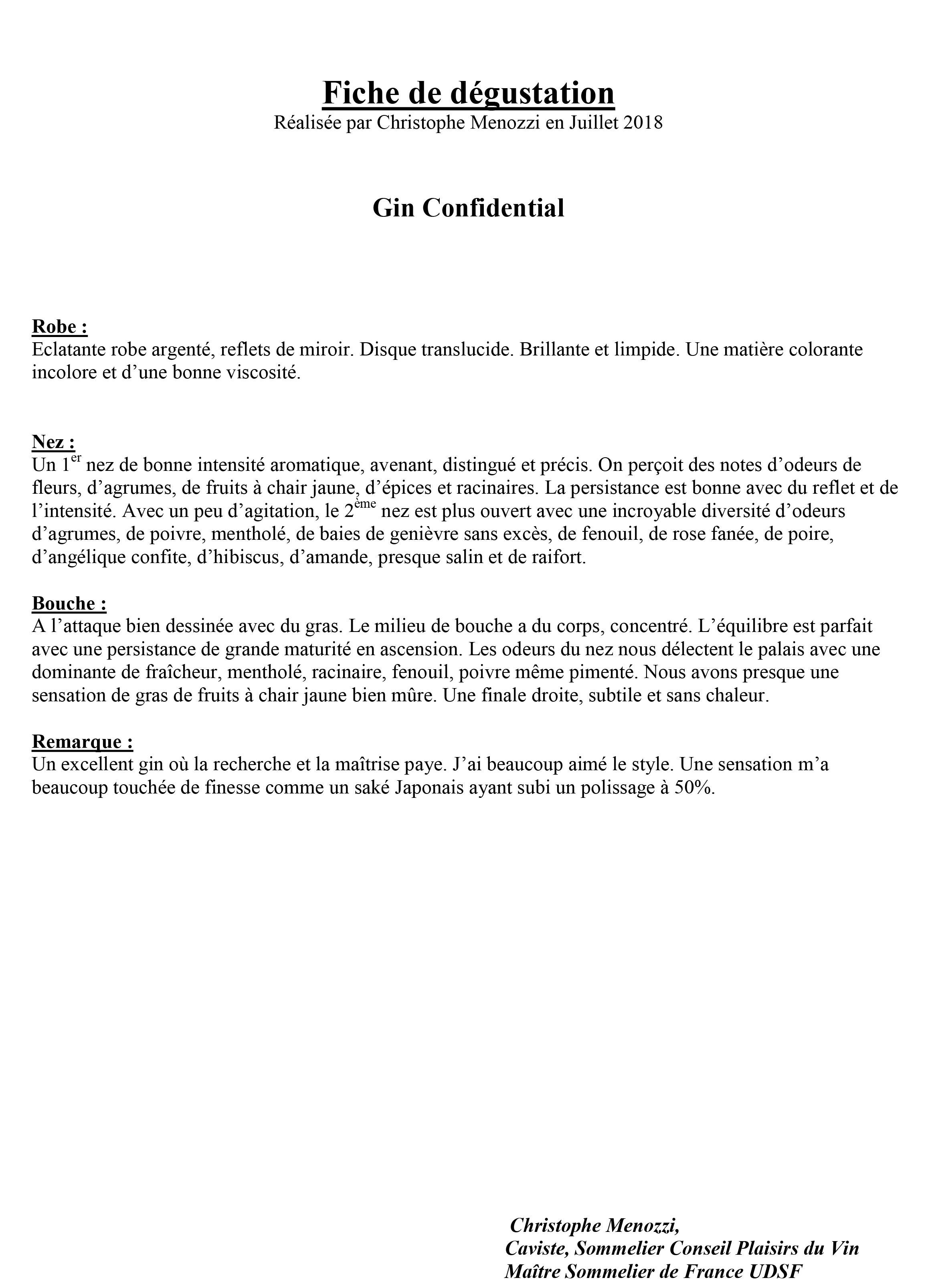 Producteur de gin français-Producteur de gin français- gin confidential-parutions presse gin confidential