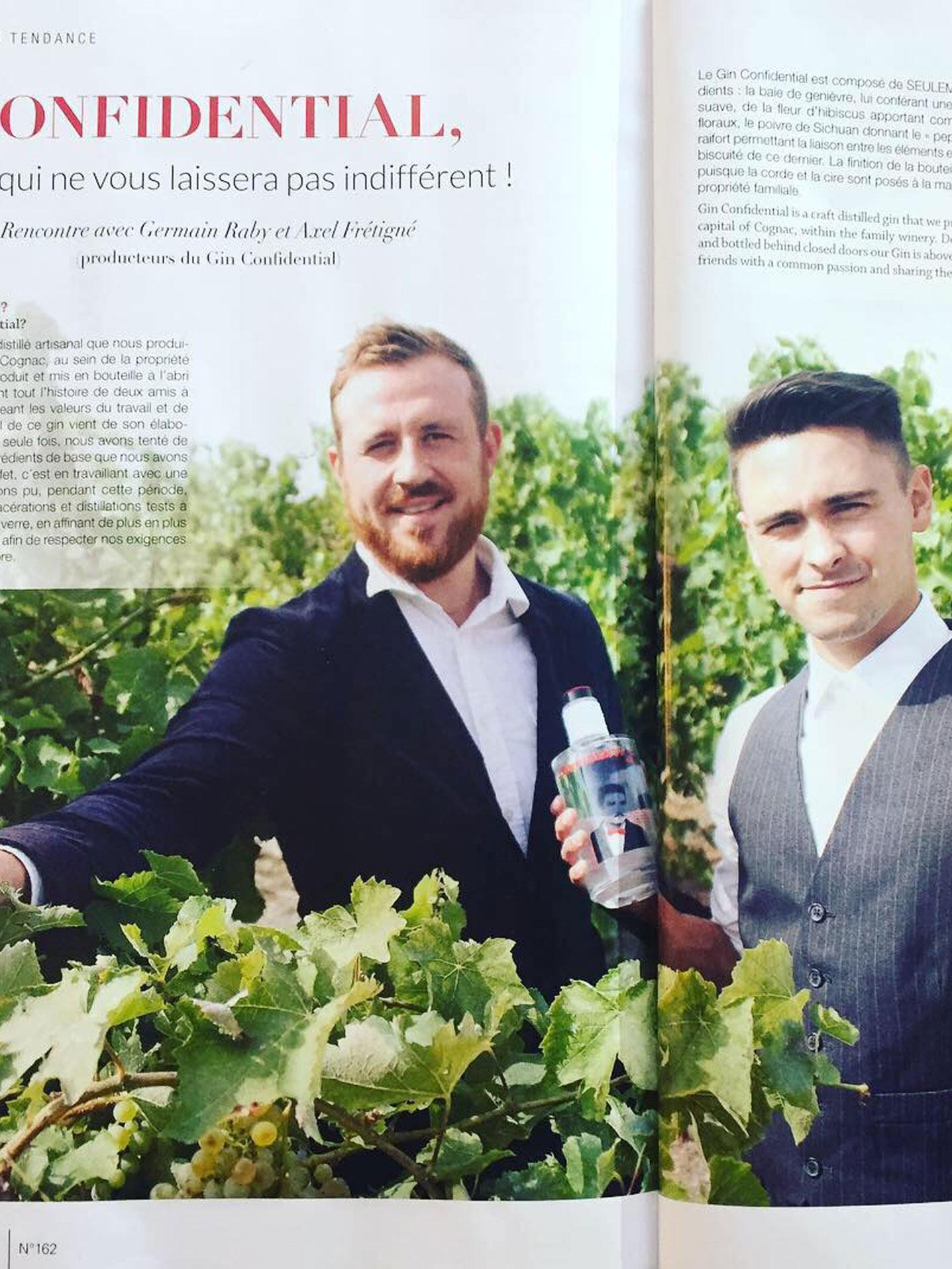 gin artisanal français- gin confidential- gin producteur